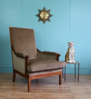 Antique English library chair - SOLD